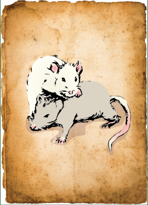 "Two rats from ""Rats in the Walls"""