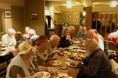 A good turnout for the Tramps supper on October the 27th,