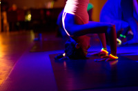 flow in the dark, yoga london, pop up yoga london