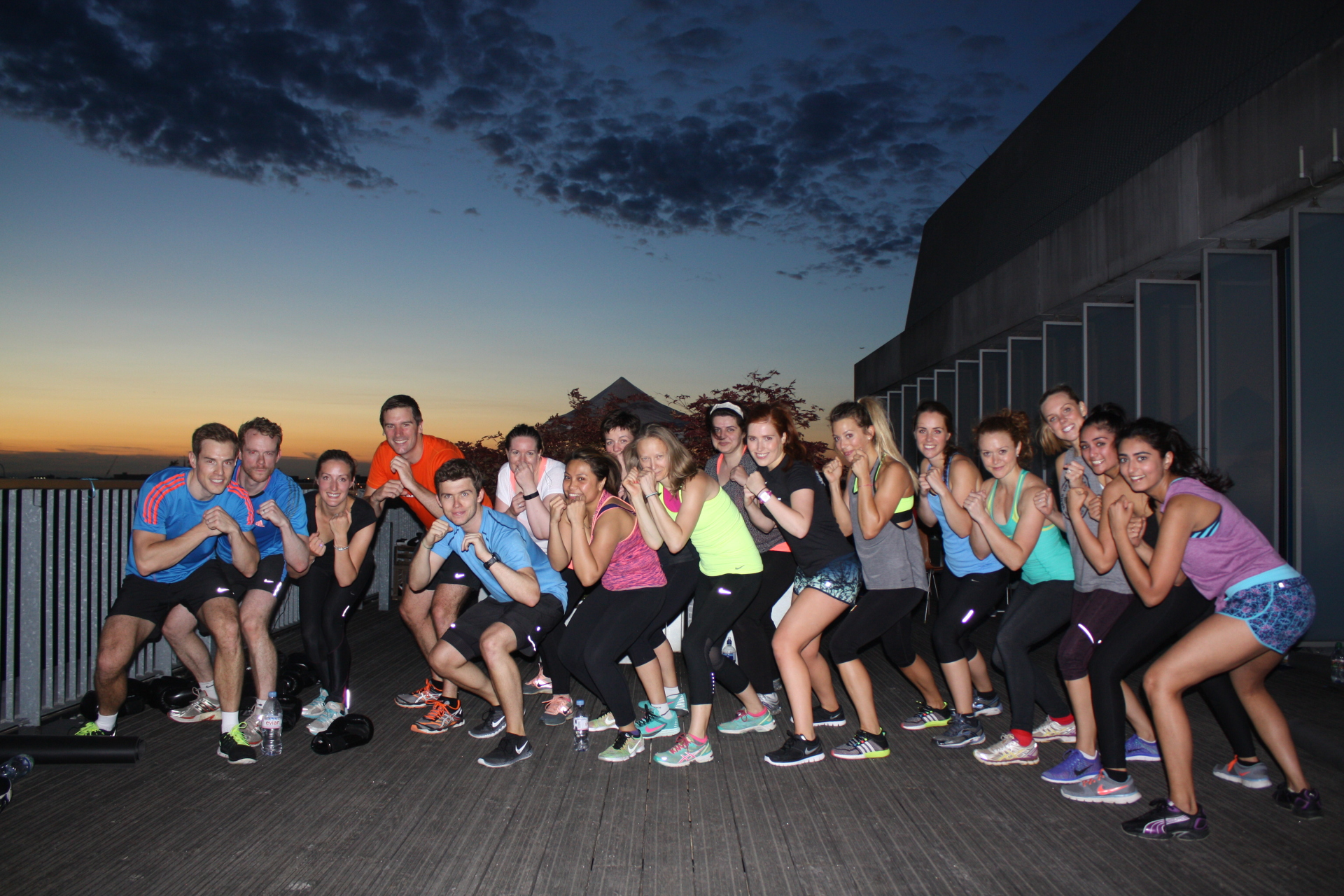 pop up fitness london, the wellscene, rooftop fitness