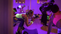 Fitness in the dark, pop up fitness london, the wellscene