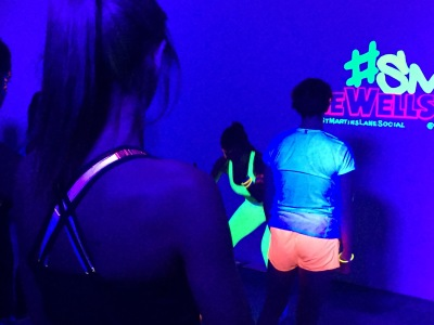 black light burpees, fitness in the dark, pop up fitness, fitness london