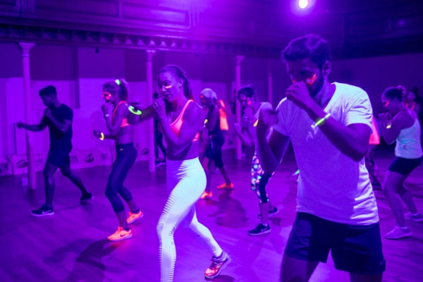black light boxing, the wellscene, pop up fitness london