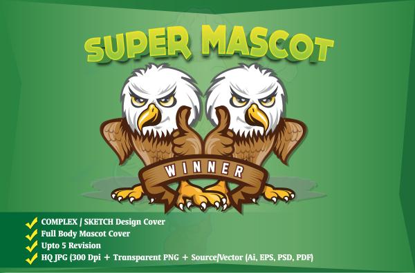 Mascot Logo, Cartoon Logo, Illustration, 3D logo, business logo