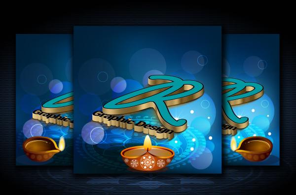 Diwali, 3D logo
