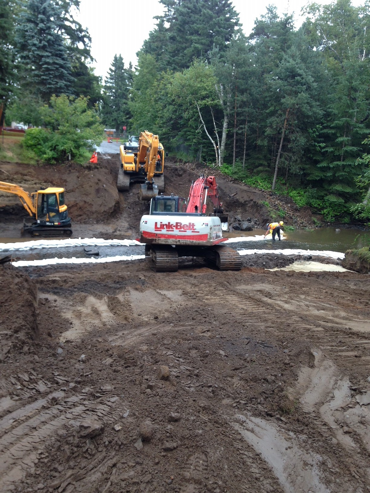 Post excavation cofferdam installation