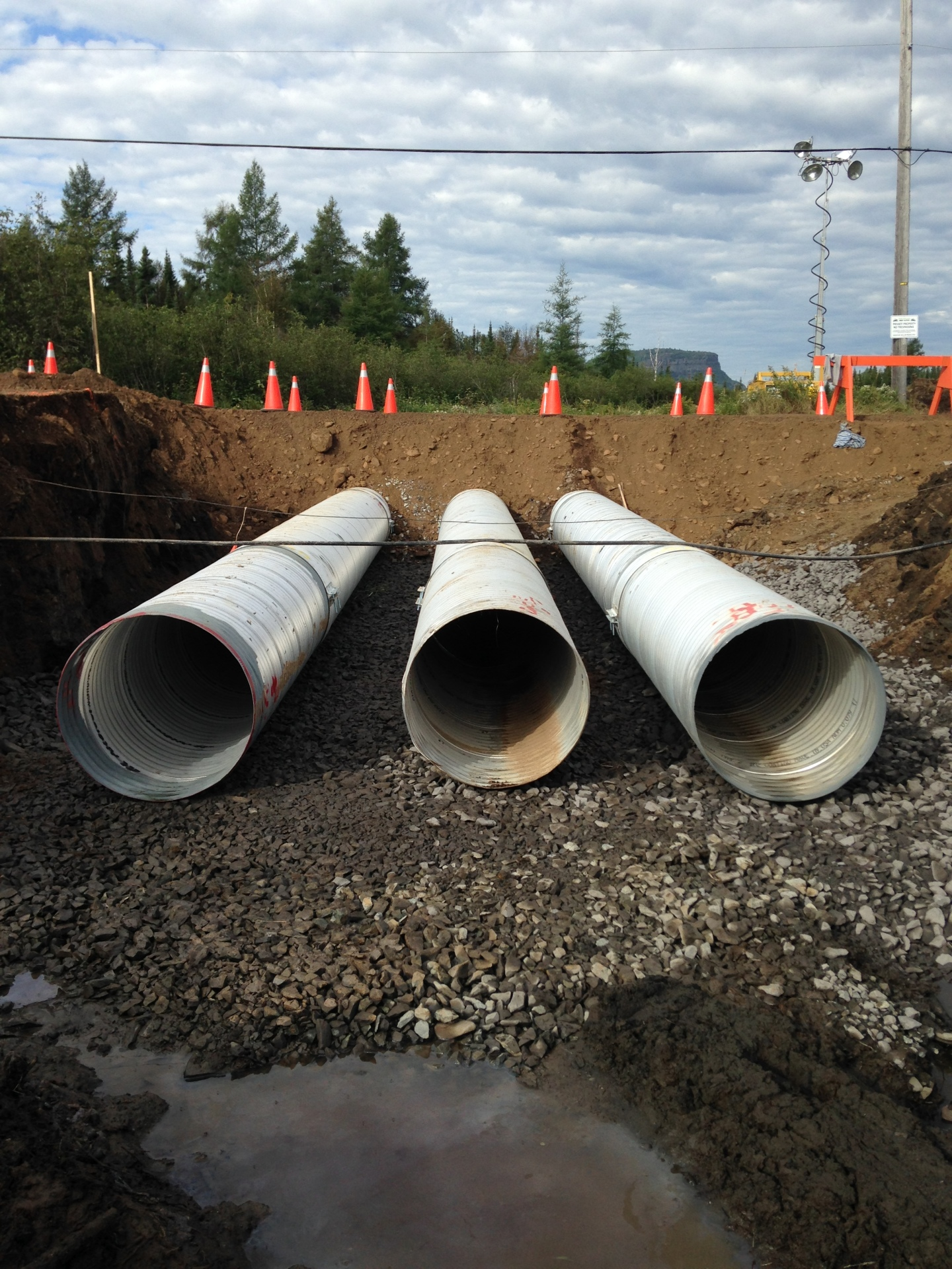 City Road culvert installation