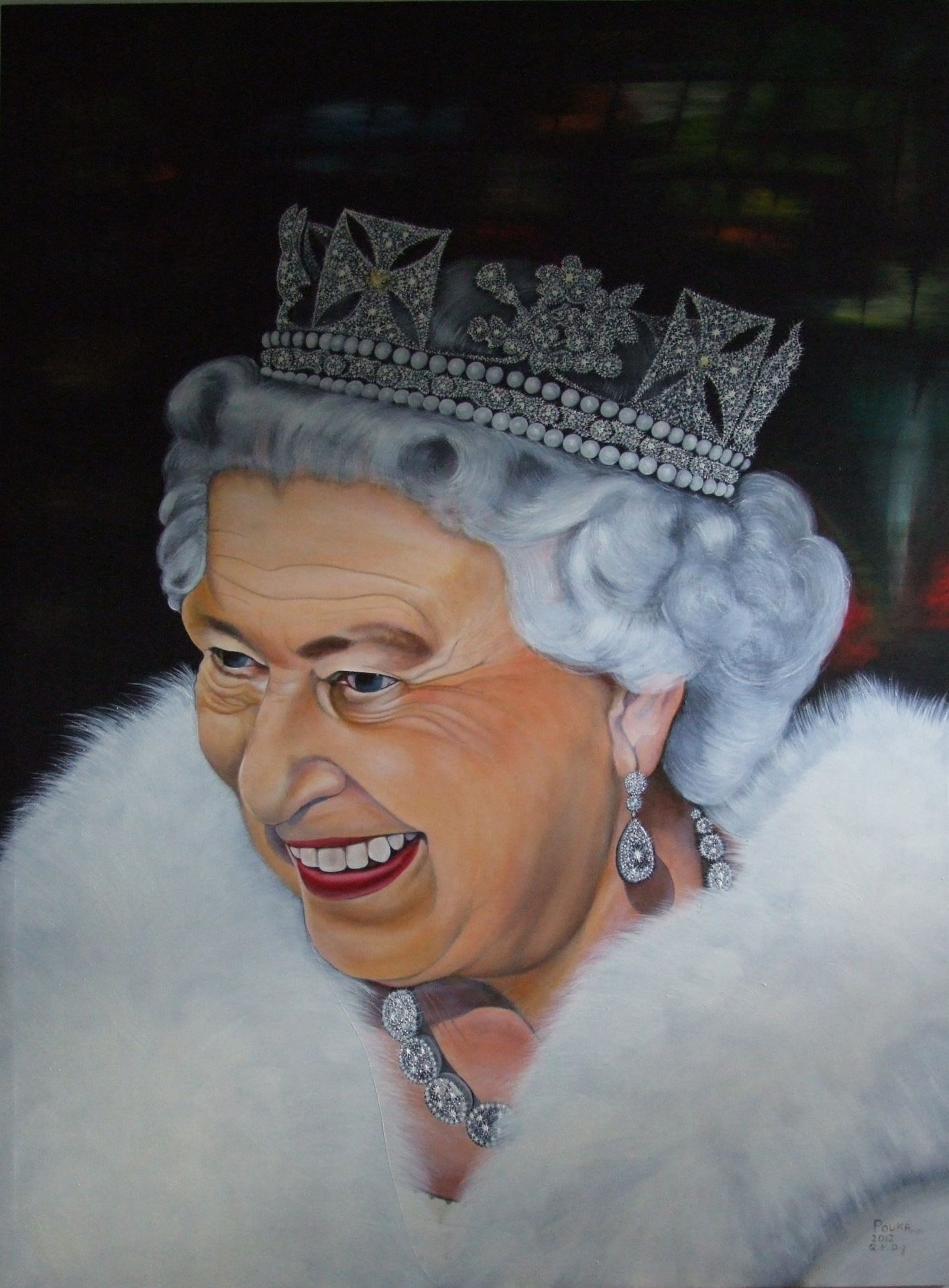 Diamond Jubilee Portrait 110 x 140 cm