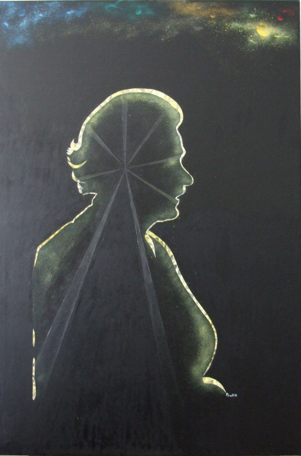 Silhouette 79 x 109 cm - oil on canvas