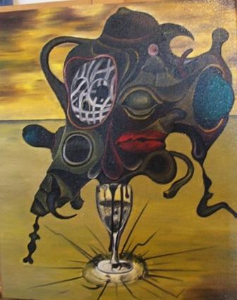 Black Blood 40 x 50 cm - oil on canvas