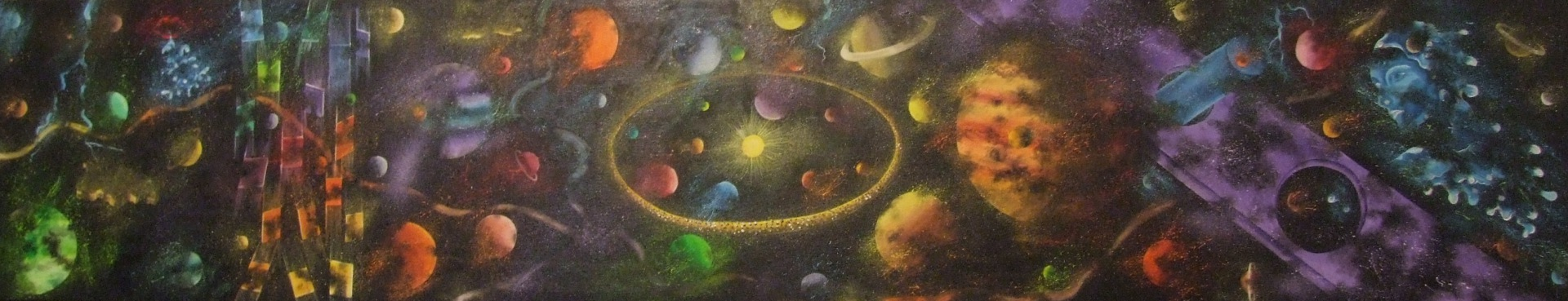 Universe 174 x 34 cm - oil on canvas