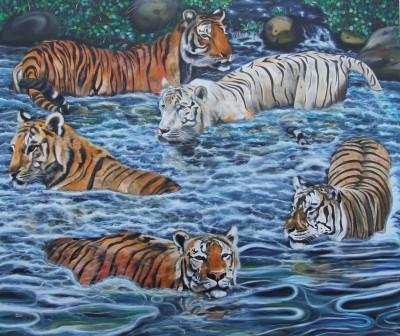 Tigers 205 x 170 cm - oil on canvas