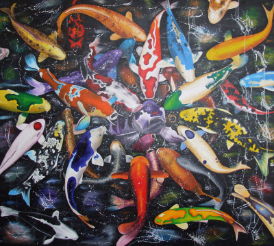 Feeding Time  170 x 150 cm - oil on canvas