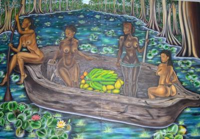 Kemit Women 250 x 170 cm - oil on canvas