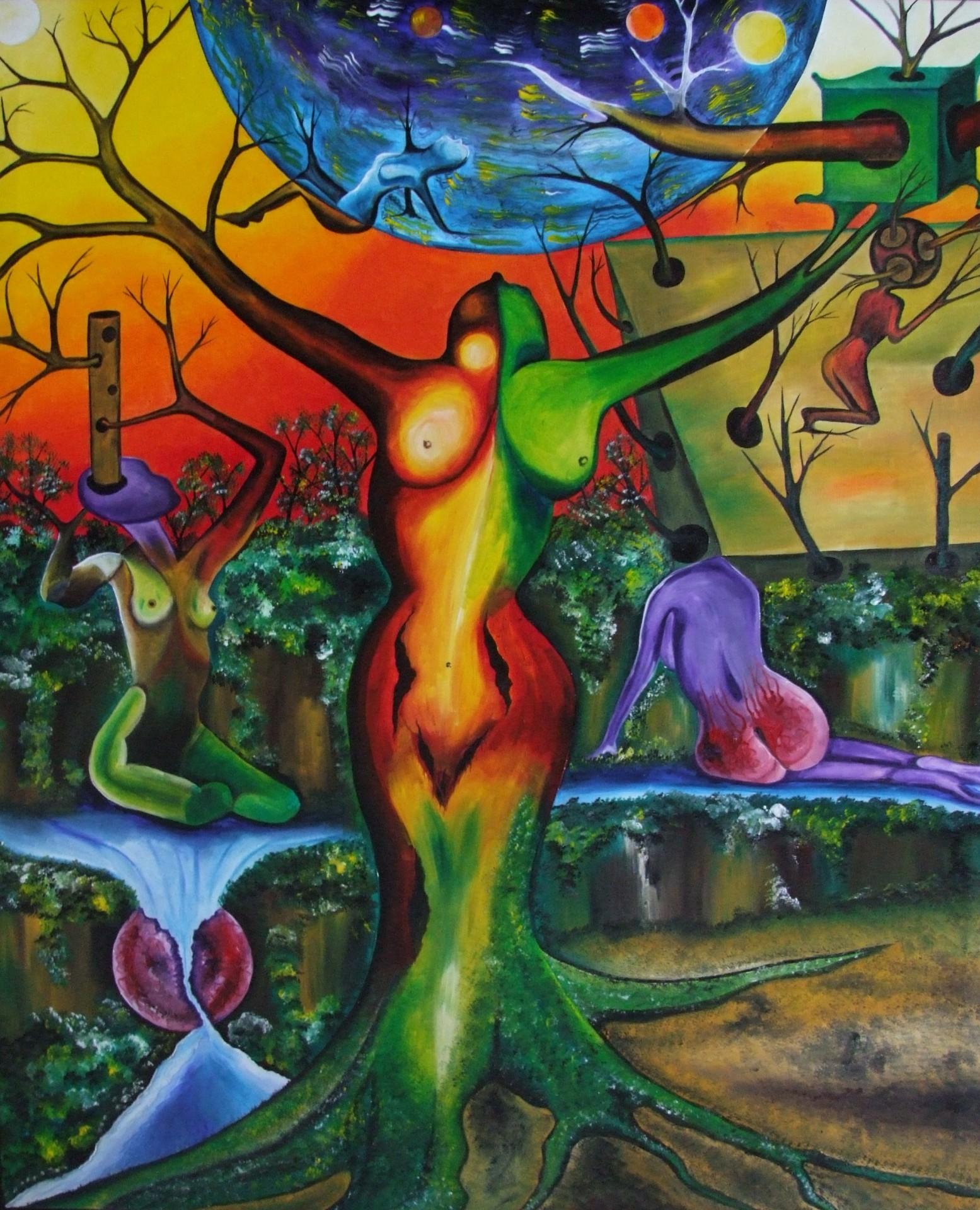 Landscape 63 x 98 cm - oil on canvas