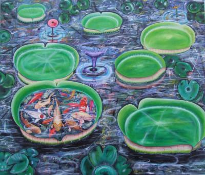 Lillies  205 x 170cm - oil on canvas