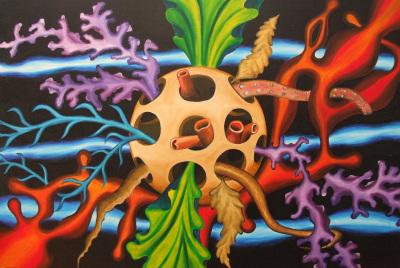 Seascape 91x61 cm - acrylics on canvas