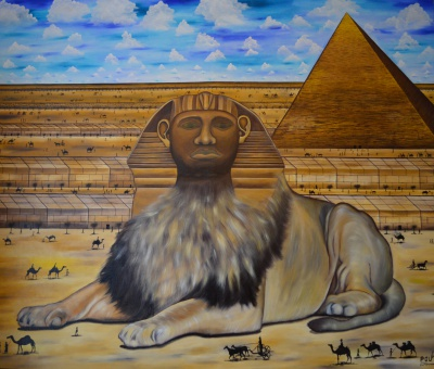 The Reminder of the Birth Rite - The Lion of Judah - 270 x 140 - oil on canvas