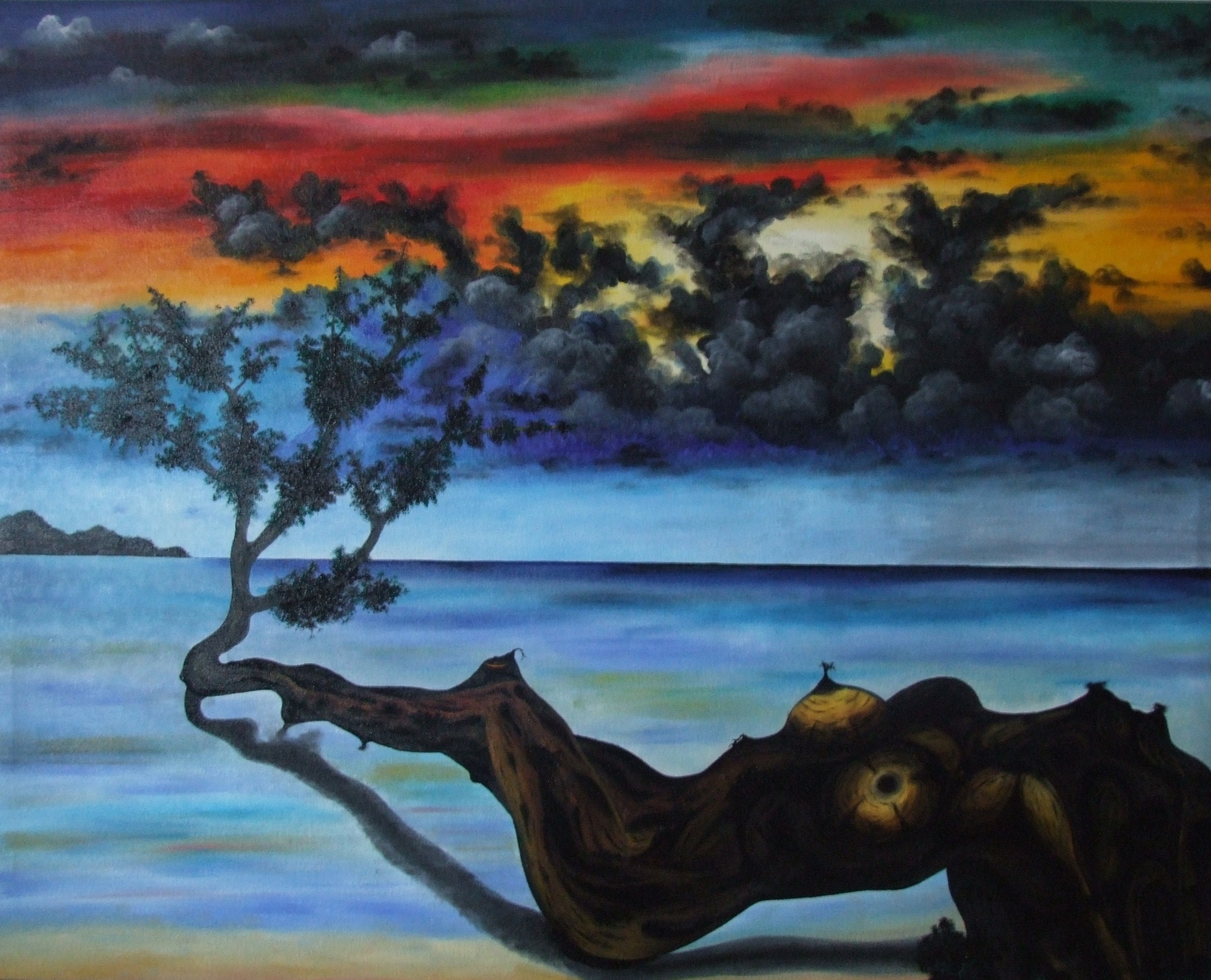Tree Woman  100 x 70 cm - oil on canvas