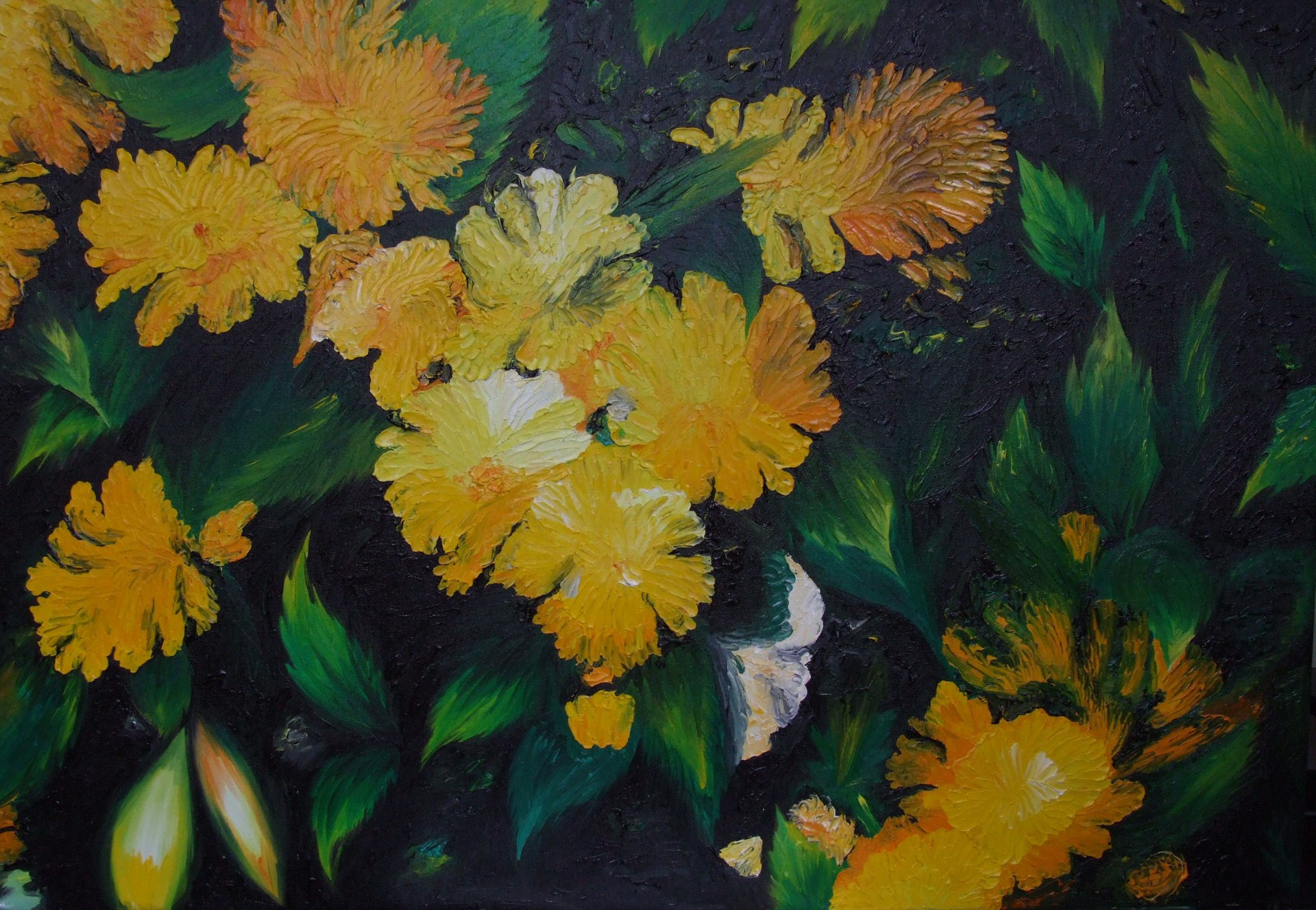 Yellow Flower 91x61cm - oil on canvas