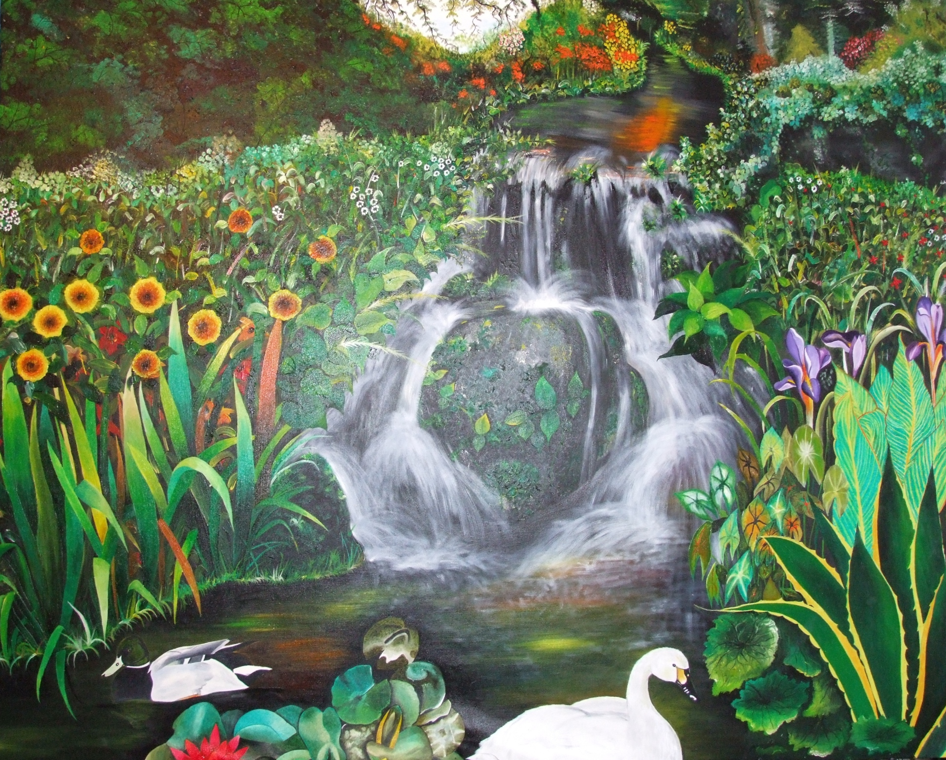 Nature  170 x 140 cm - oil on canvas