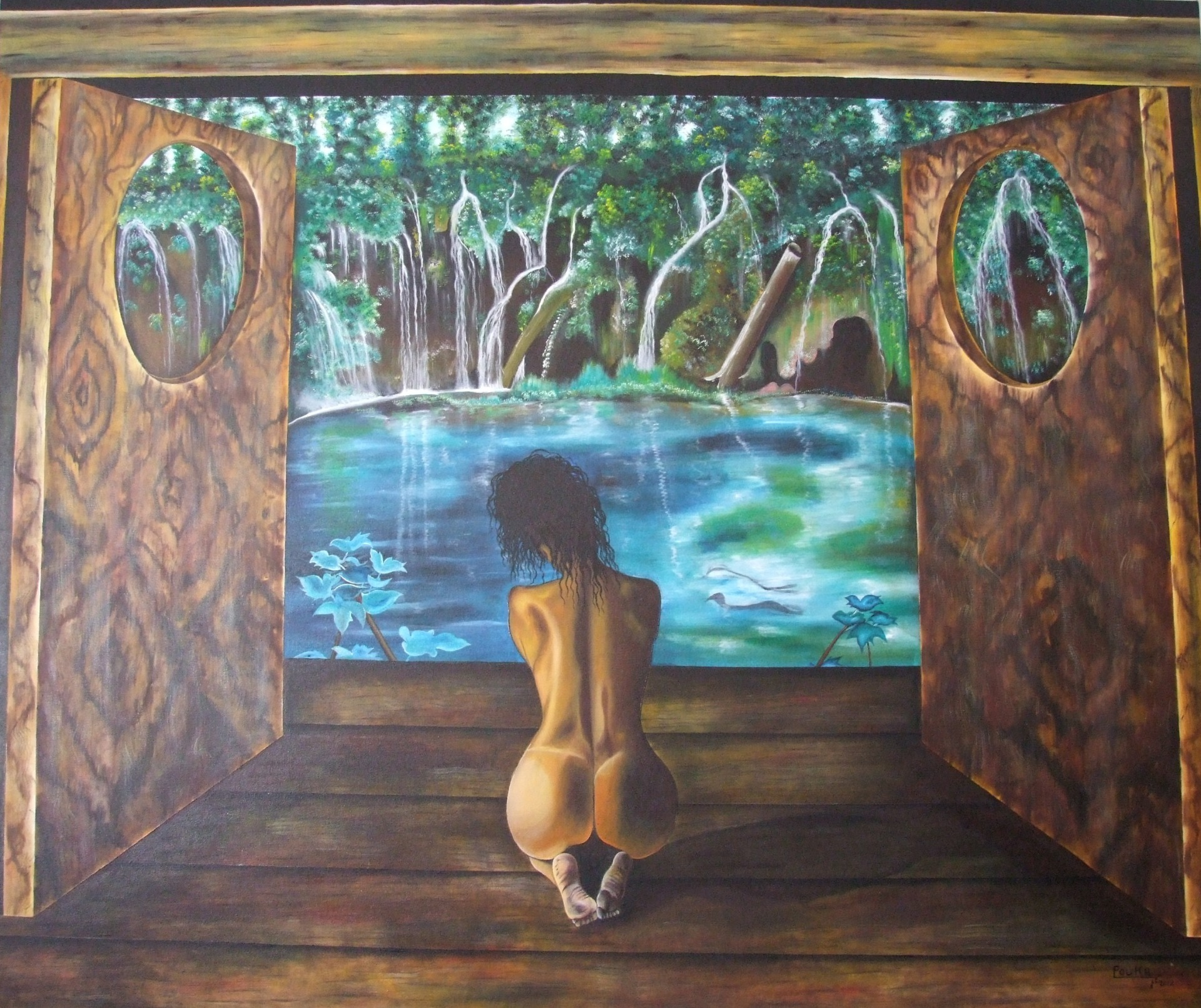 View 170 x 140 cm - oil on canvas