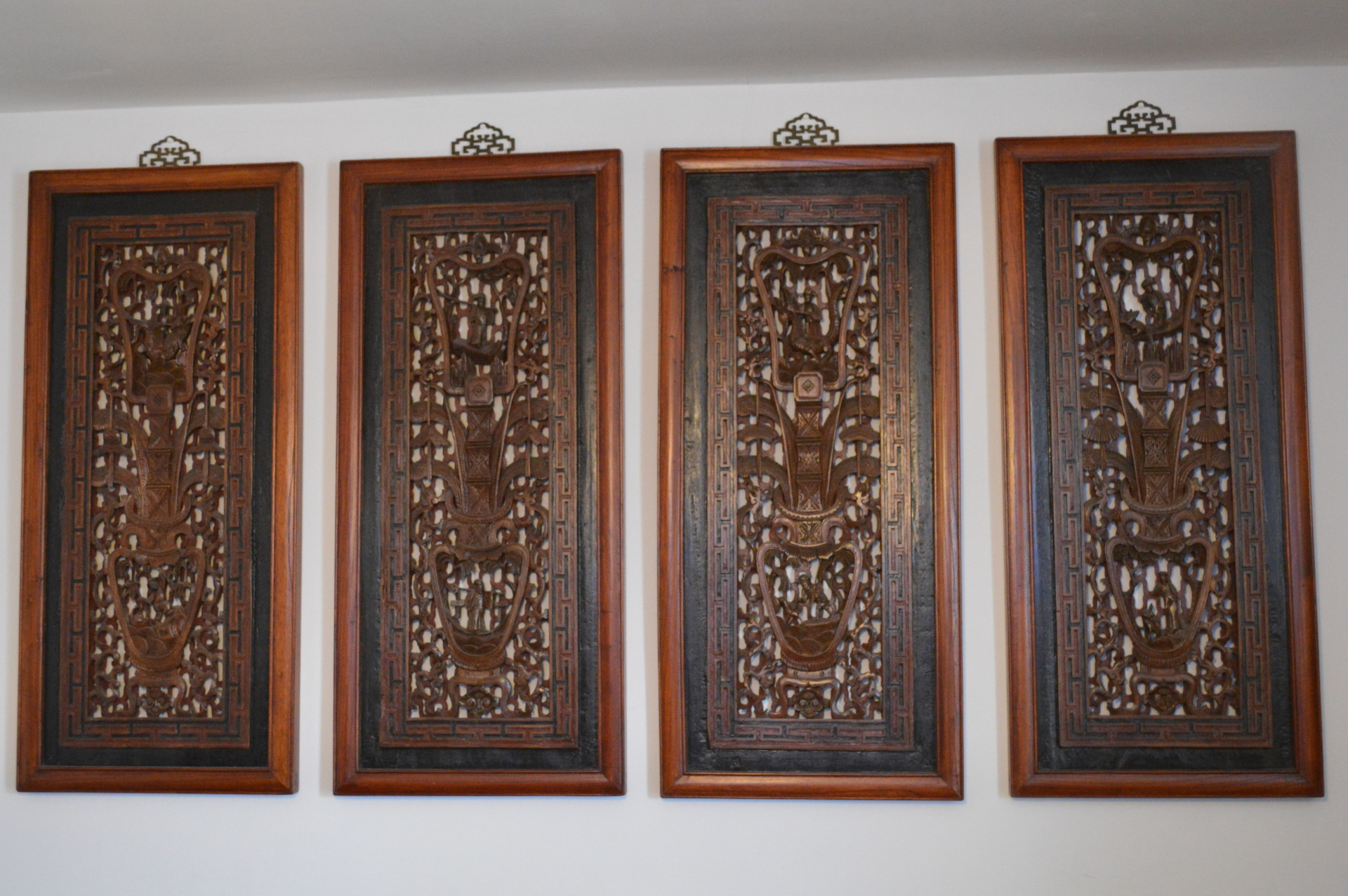 Chinese wooden panels