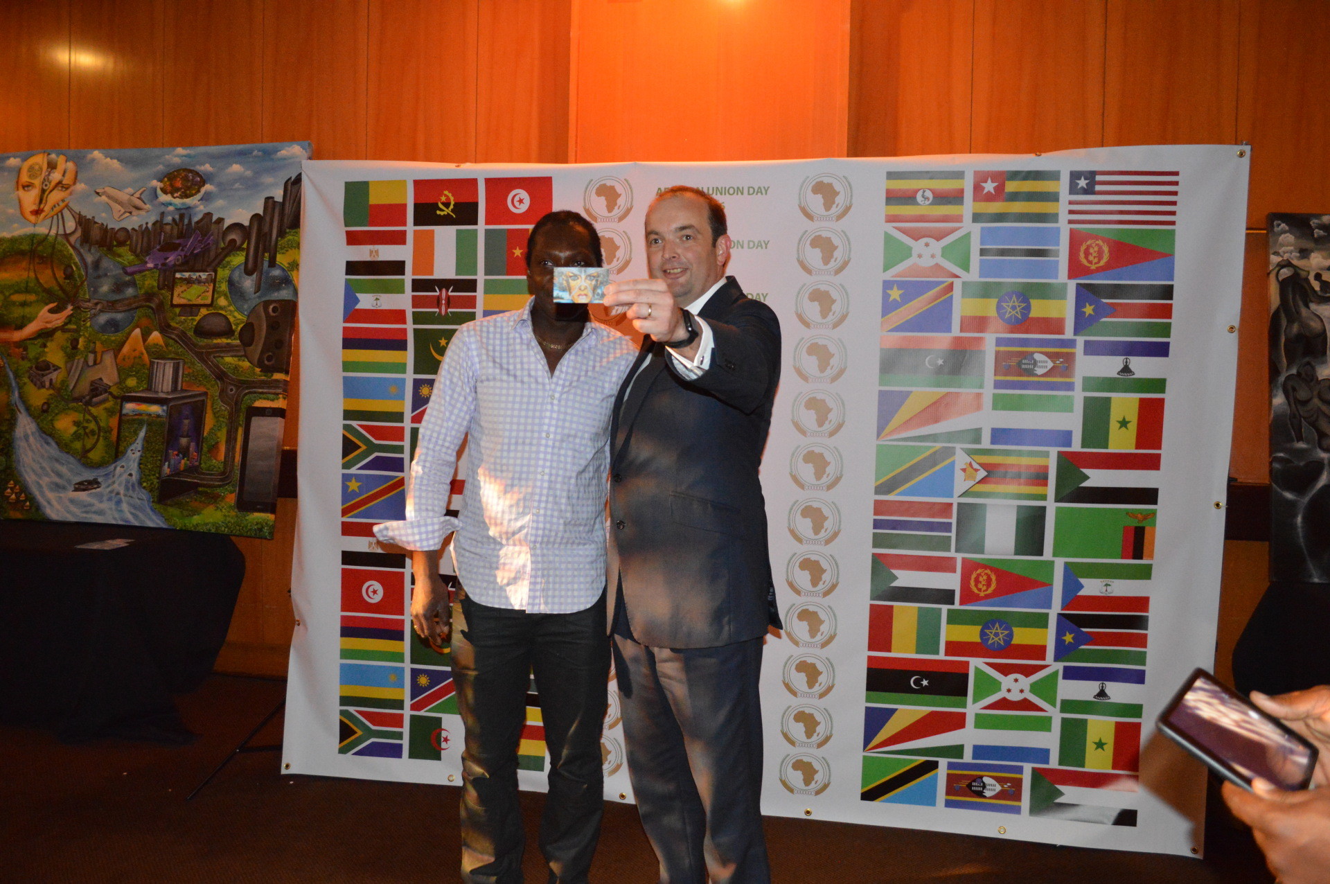 James Duddridge, MP, Minister for Africa endorses PoukArt at Africa Day, Kensington