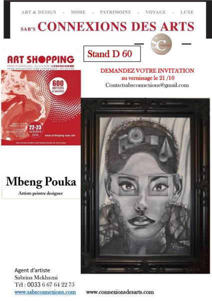 Mbeng Pouka exhibiting at the Carrousel Du Louvre, Paris 21-23 October 2016