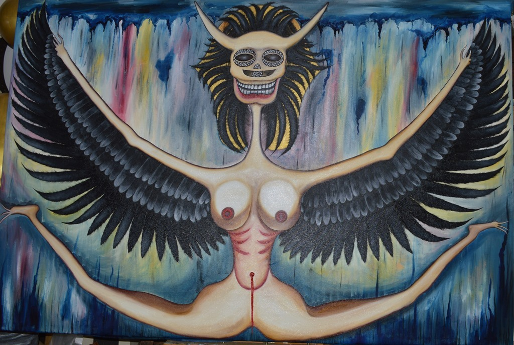 The Fall of Lucifer  171 x125 cm - oil on canvas