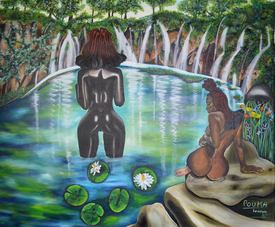 Tribal Bath  210x175cm - oil on canvas