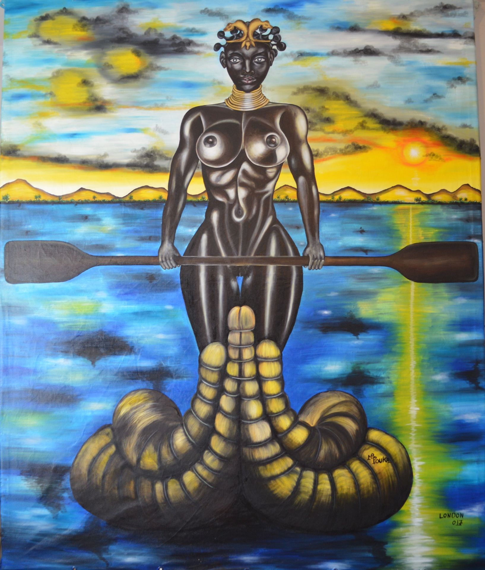 Melanin 170 x 200 cm - oil on canvas