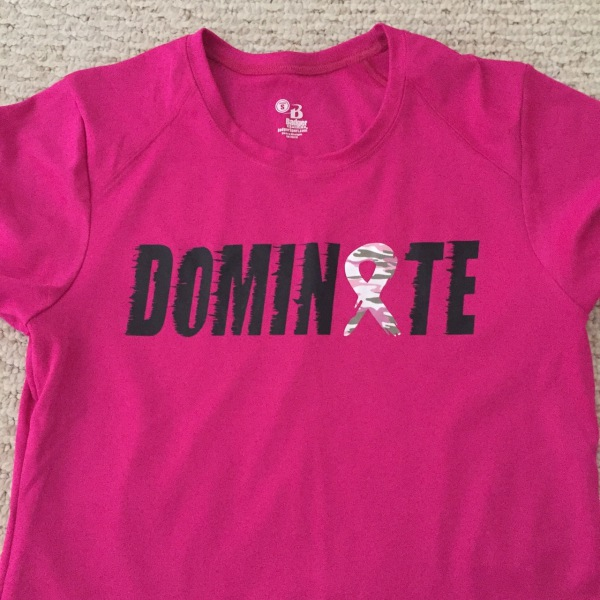 Dominate Breast Cancer Awareness T-Shirt