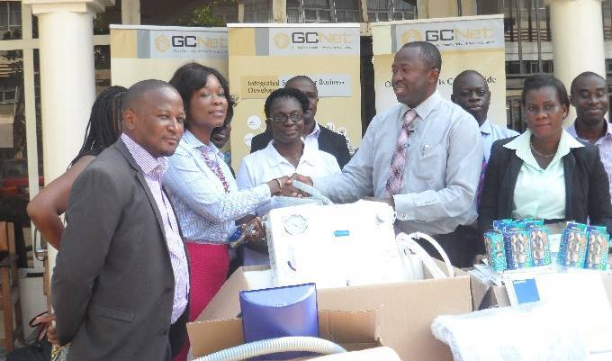 The Ghana Community Network Services Limited (GCNet) has presented items worth over GH¢40,000 to the