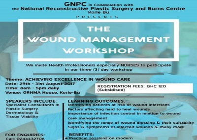 UPCOMING EVENT: WOUND MANAGEMENT WORKSHOP