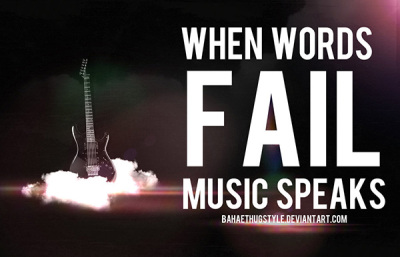 When Words Fail Music Speakes