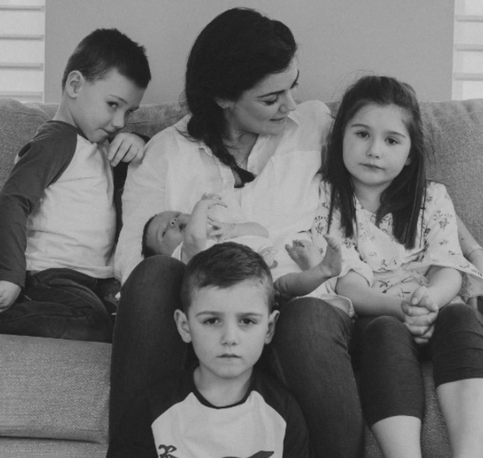 family photo needing image retouch and photo merge.