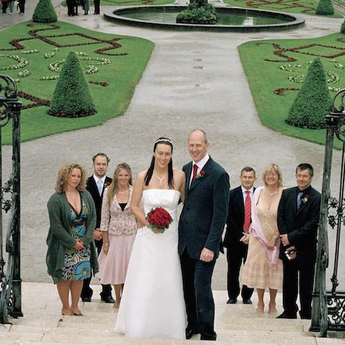Before: Unwanted guests around bride & groom