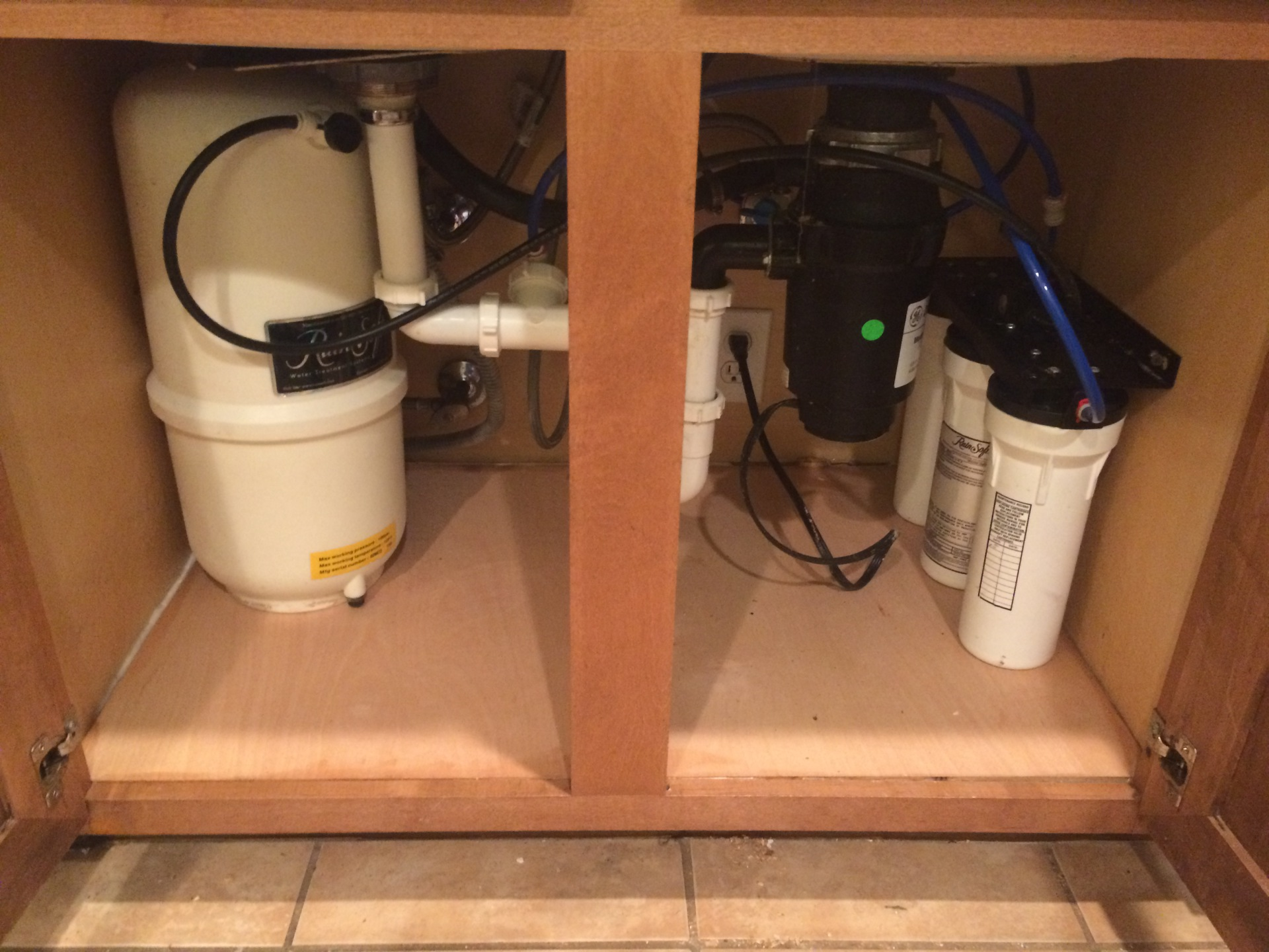 Sink & Cabinet Water Damage Repair