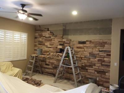 Living Room Stonework