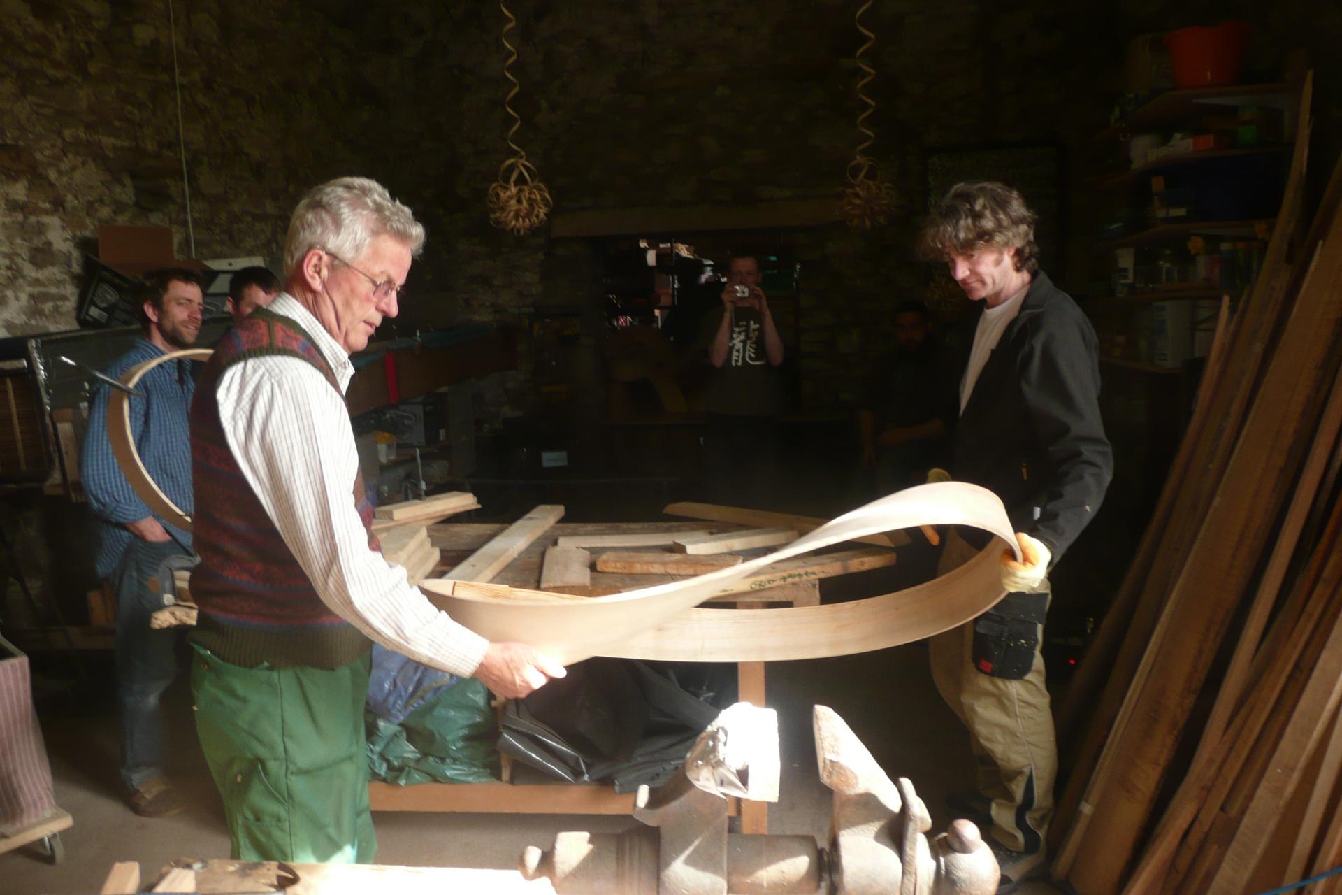 moebius strip, giant, stream-bent wood, steambending