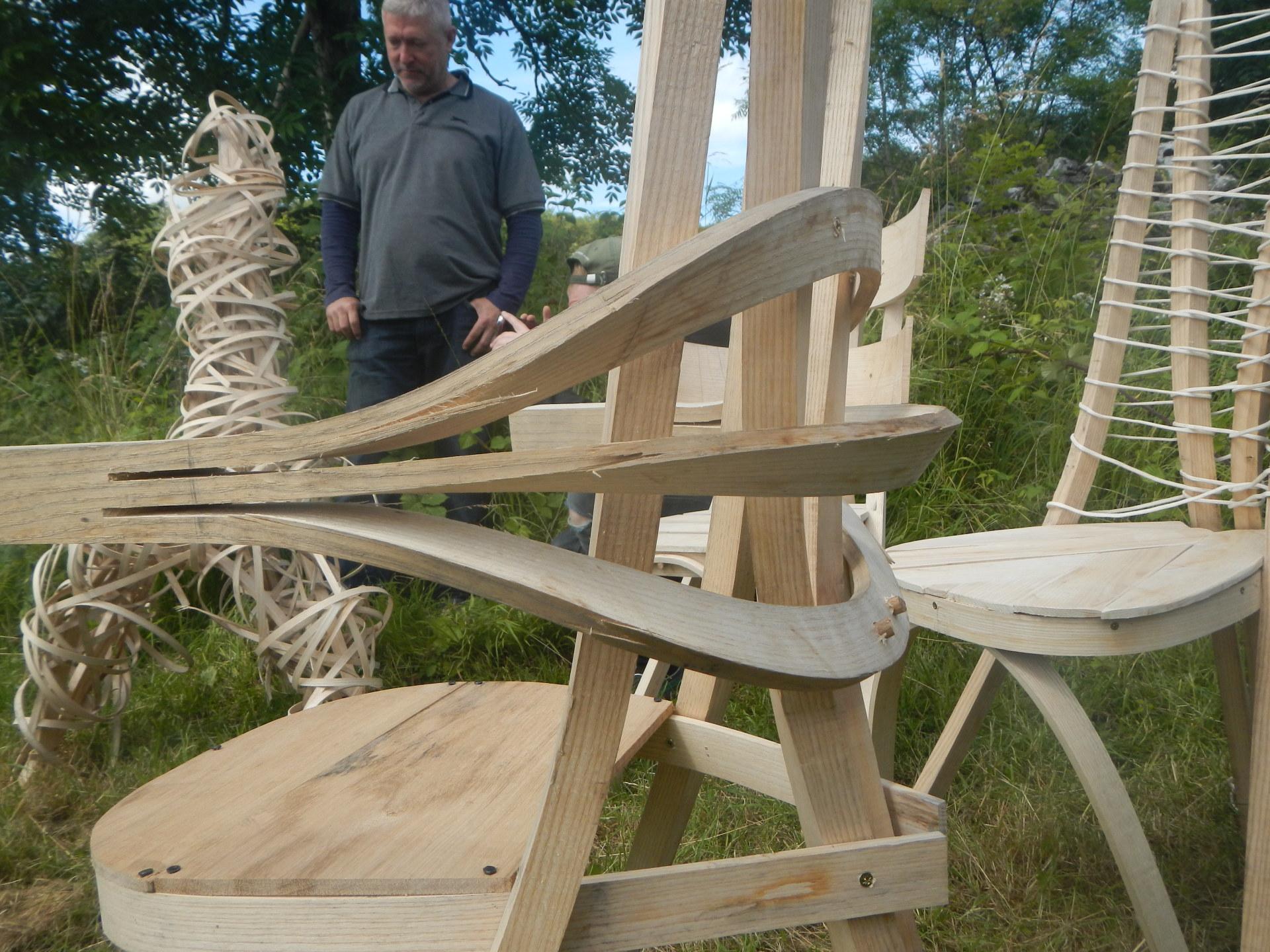 chair, steambent, ash, Cumbrian, woodwork