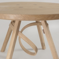 May Coffee Table, table, steambent, cornwall, Tom Raffield, handmade