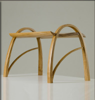 spring bench, david haig, olive ash, new zealand, steam-bent