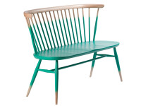 ercol, windsor, bench, turquoise