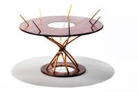 sprail table, jesse shaw, cherry, walnut, spiral furniture
