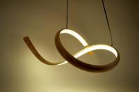 john procario, pendant lamp, steambent, curves, lighting wood