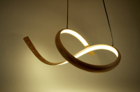 john procario, pendant lamp, steambent, curves, lighting wood