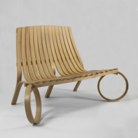 tom raffield, loop bench, organic, oak