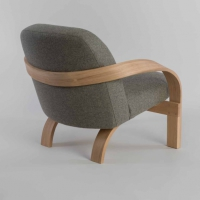 arbour chair, tom raffield, steambent, armchair, grey, oak, english, matt